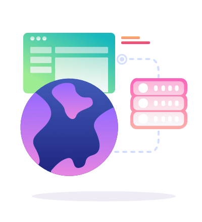 icon globe app database