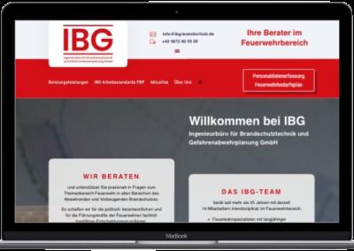 Projekt: IBG – Ingenieurbüro für Brandschutztechnik und Gefahrenabwehrplanung GmbH